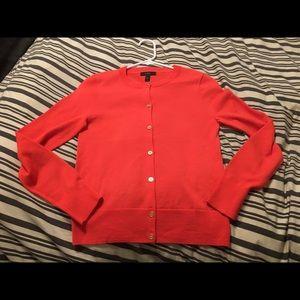 NWOT Orange J Crew Merino Cardigan Sweater Sz XS